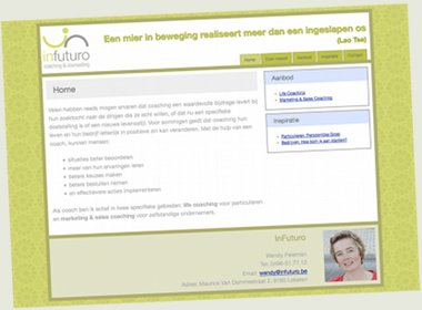 InFuturo: Coaching site met CMS (WolfCMS)